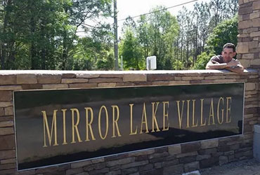 monument sign installation